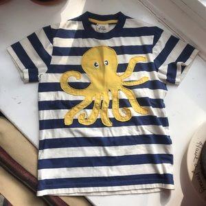 Mini Boden octopus nautical stripe T shirt